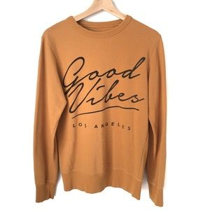 """Pull & Bear Sweater """"Good Vibes"""" in Size EU Small"""